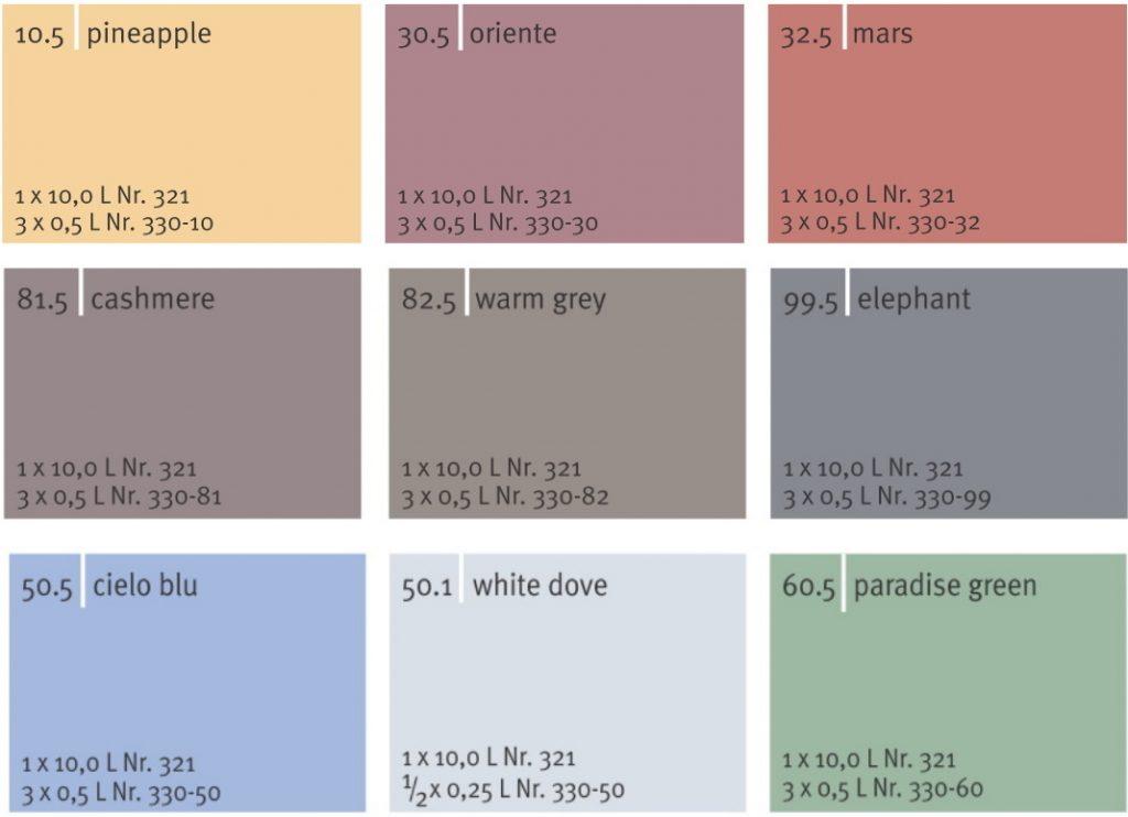 Farben der Pappen
